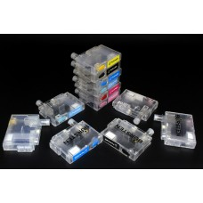 СНПЧ для Epson T59, T50, R290, R270, RX690, RX610, RX590, R390, 1410 [T811N-T816N] бесшлейфовая BURSTEN (НАНО III,SC21) единая чиповая рамка, кнопка обнуления, 2 перезаправляемых контейнера на каждый цвет, с ПОЭТАПНЫМ сбросом