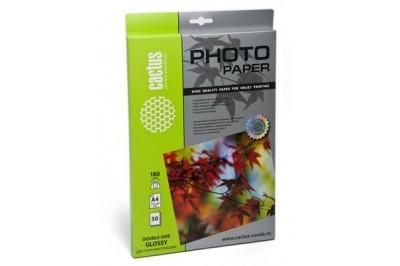 Фотобумага Cactus CS-GA418050 глянцевая односторонняя,А4, 180 г/м2, 50 листов