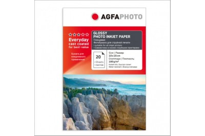 Фотобумага 4R(102x152) Глянцевая 180g 20 листов AGFA