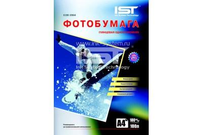Фотобумага глянцевая односторонняя 180г/м2, А4 (21х29.7), 100 л, (G180-100A4) IST