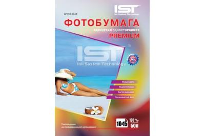 Фотобумага Premium глянец односторонняя 190гр/м, 4R (10х15), 50л, (GP190-504R) IST