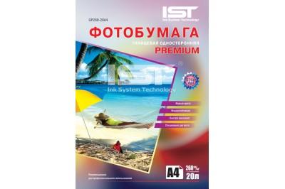 Фотобумага Premium глянец односторонняя 260гр/м, А4 (21х29.7), 20 л, (GP260-20A4) IST