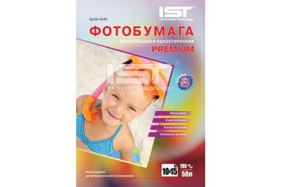 Фотобумага Premium полуглянец односторонняя 190гр/м, 4R (10х15), 50л, (Sg190-504R) IST
