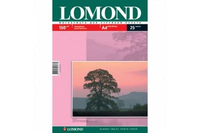 Фотобумага глянцевая односторонняя 150гр/м, А4 (21х29.7), 25 л, 0102043, Lomond