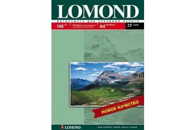 Фотобумага глянцевая односторонняя 140гр/м, А4 (21х29.7), 25 л, 0102076, Lomond