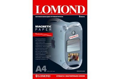 Бумага матовая с магнитным слоем Magnetic 620гр/м, А4 (21х29.7), 2 листа, 2020346, Lomond