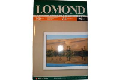 Фотобумага Lomond 0102073  Матовая бумага 1х 140г/м2, А4, 25л
