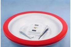 Часы пластиковые Ч-5 под полиграфию, круг D288м размер вставки D240мм, цвет красный