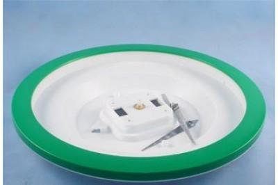 Часы пластиковые Ч-5 под полиграфию, круг D288м размер вставки D240мм, цвет зеленый