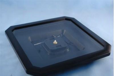 Часы пластиковые Ч-4 под полиграфию, 275х275мм, размер вставки 237х240мм, цвет черный