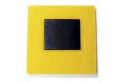 Заготовка акрилового магнита 65х65 Желтый 25шт.