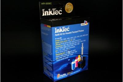 Заправочный набор HPI-0006C Color  (цветной) для  HP C6657A (№57), C8728A (№28) (в наборе: чернила C,M,Y по 25 мл, заправочный зажим) InkTec