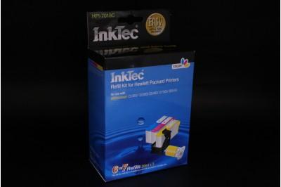 Заправочный набор HPI-7018C Color  (цветной) для HP 178, 178XL (в наборе: чернила C,M,Y по 25 мл, заправочный зажим) InkTec