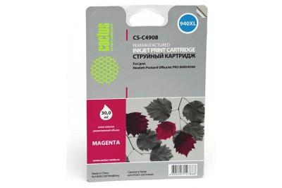 Картридж CACTUS №940 XL (пурпурный) (CS-C4908) для OfficeJet PRO 8000/8500