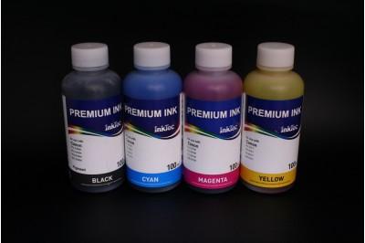 Комплект чернил InkTec C9020-C9021 (пигментные и водорастворимые), 4 x 100 мл, для Canon PGI-220BK/ 520BK/ 820BK/ 320BK, CLI-221C/ 521C/ 821C/ 321C/M/Y