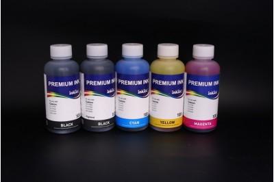 Комплект чернил InkTec C9020-C9021 (пигментные и водорастворимые), 5 x 100 мл, для Canon PGI-220BK/ 520BK/ 820BK/ 320BK, CLI-221BK/ 521BK/ 821BK/ 321BK/ C/M/Y
