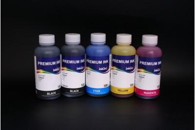 Комплект чернил InkTec C905-C908 (пигментные и водорастворимые), 5 x 100 мл, для Canon PGI-5BK, PG-40, PG-50, CLI-8BK/ C/M/Y, CL-52, CL-41, CL-51