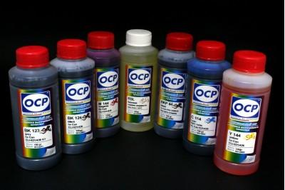 Комплект чернил OCP для CANON (BKP 44, BK 123, BK 124, C154, M/Y 144) +RSL для new картриджей MP620/MP630, MP980/MP990 (PGI-521/CLI-521), 7х100гр.