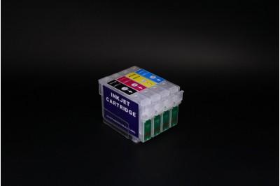 ПЗК (перезаправляемые картриджи)  Т1281-1284 для Epson Stylus S22/ SX120/ SX125/ SX130/ SX230/ SX235W/ SX420W/ SX425W/ SX430W/ SX435W/ SX438W/