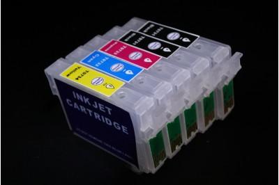 ПЗК (перезаправляемые картриджи) T0731*2-Т0734 для Epson Stylus Office T30/TX510/ С110 набор 5шт