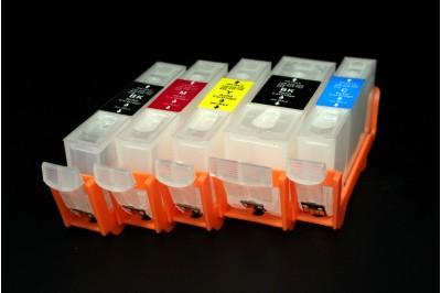 ПЗК (перезаправляемые картриджи) PGI-425BK, CLI-426BK/C/M/Y  для Canon Pixma IP4840 / IP4940 / MG8140 / MG6140 / MG5240 /  MG5340 /MG5140 / iX6540 / MX884 с чипом, набор 5шт