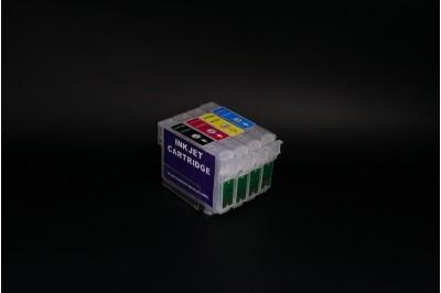 ПЗК (перезаправляемые картриджи) T0731-Т0734 (С79/ ТХ200)  для Epson Stylus C79/ CX3900/ CX4900/ CX5900/ CX6900/ CX7300/ CX8300/ CX9300/T40W/TX200/ ... набор 4шт (V3.1 самая полная совместимость)